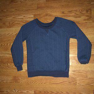 Blue prana sweater with pockets